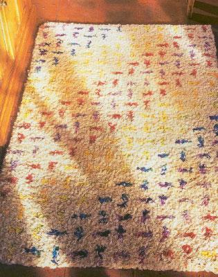 """Делаем самостоятельно коврики из лоскутов. Как сделать ковёр """"координатная сетка""""."""