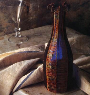 Плетение из проволоки. Как оплетать бутылку проволокой.
