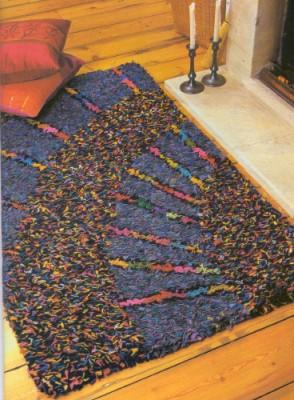 коврик из лоскутков