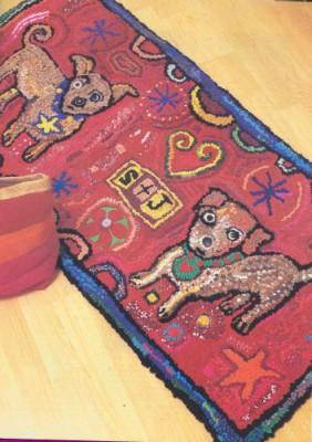 Делаем самостоятельно коврики из лоскутов. Собачья радость.