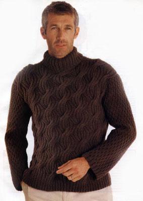 17. Вязание мужчине.