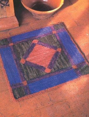 """Делаем самостоятельно коврики из лоскутов. Как сделать коврик """"Наследие амманитов""""."""
