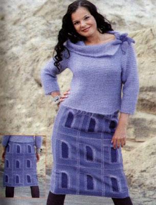 Костюм «Сиреневый туман»: юбка