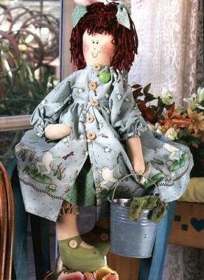 Маленькое сердце куклы - примитива. Выкройки кукол.