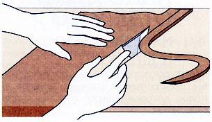 Работа с кожей. Подготовка кожи и основные приёмы работы.