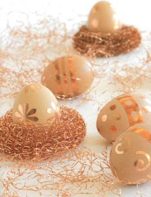 """Готовимся к Пасхе. История появления традиции украшать яйца. Декор """"Королевская позолота""""."""