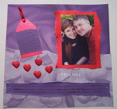 Скрапбукинг. Идеи для оформления фото - панно на День Всех Влюблённых.