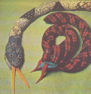 Шьём змей - лоскутную и цельнокроеную.