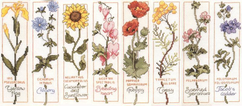 Схемы для вышивания закладок.