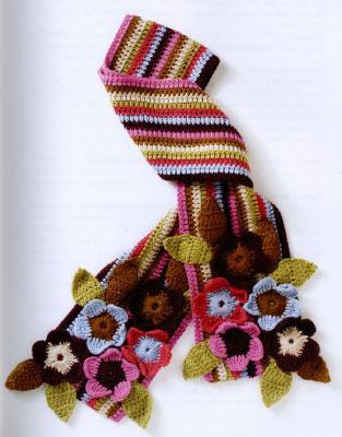 Узоры для вязания шарфа имеют массу вариантов.  Красивый узор для шарфа...