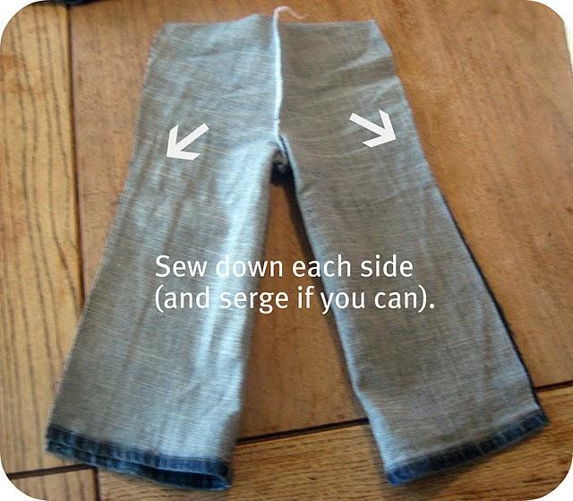 Как самостоятельно сшить ребёнку джинсовые штаны. trozo.ru .