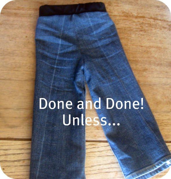 сшить из старых джинсов ребенку.