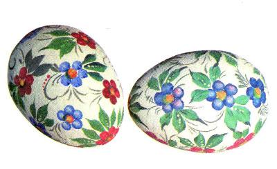 Как сделать роспись деревянных яиц, не умея рисовать. Тычковая роспись. 47877