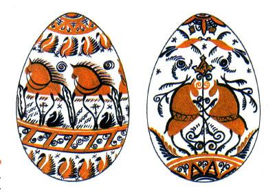 Некоторые секреты росписи деревянных яиц в мезенском стиле.