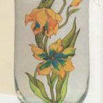 Роспись стекла. Примеры работ на предметах быта. Идеи, эскизы и шаблоны для росписи.
