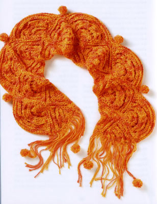 Схема вязания шарфа — накидки