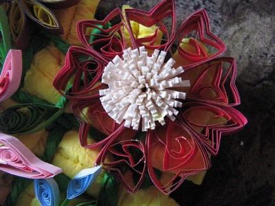 Квиллинг. Примеры работ Ольги Кочарян. Панно с рыбками и цветами.