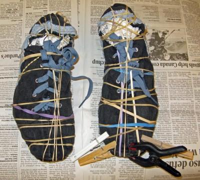Как сделать обувь своими руками. Модные кеды из старых джинсов.