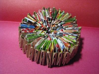 Мастер - класс Ольги Кочарян. Шкатулка в виде пасхального кулича, выполненная в технике модульного оригами.