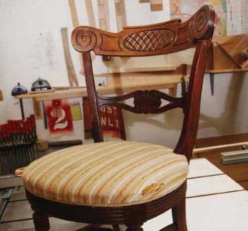 Как перетянуть стулья своими руками фото