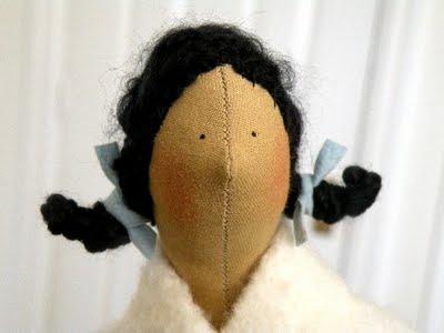 Причёска для куклы Тильда
