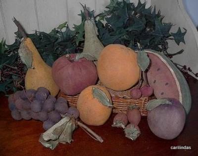 Как украсить стол к празднику. Шьём фрукты своими руками. Выкройки.