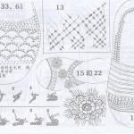 Вязаные босоножки. Схемы вязания.