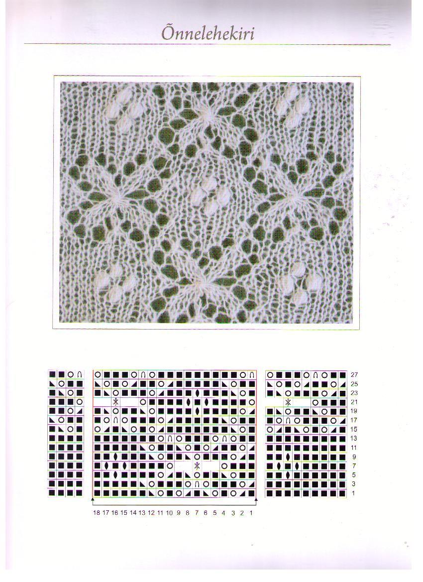 Haapsalu sall—Эстонские шали Большое количество ажурных узоров для вязания воздушных и красивых шалей спицами и на...