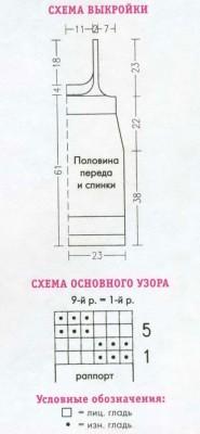 """Как вязать платье """"Соблазн""""."""