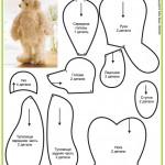 25 выкроек плюшевых медведей. Часть 3.