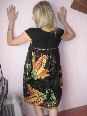 Как сделать платье в технике крейзи-вул. Мастер - класс Ольги Осадчей.