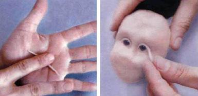 Изготовление куклы из полимерных пластиков. Лепим голову куклы: череп, глаза, нос, щеки, рот, подбородок, челюсть, шею.