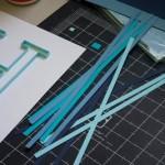Квиллинг. Как сделать буквы с вензелями.