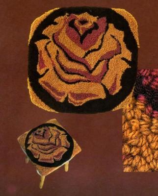 """Схемы для вышивания чехлов на табурет и ковриков в технике """"набивка"""" (вышивка петлёй)."""