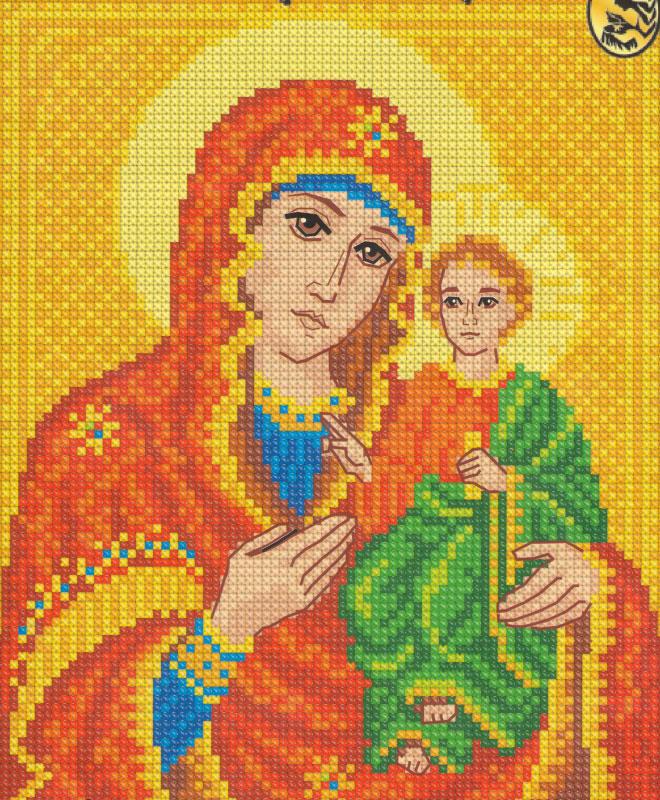 Богородицы 17 х 20 / набор для вышивания (уп.  1шт.) - швейная фурнитура и товары для творчества оптом Дамское счастье.