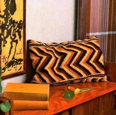 """Схемы для вышивания чехлов на подушки в технике """"набивка"""" (вышивка петлёй)."""