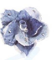 Цветок из джинсовой ткани.