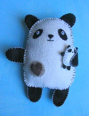 Шьём игрушки. Панда - примитив.