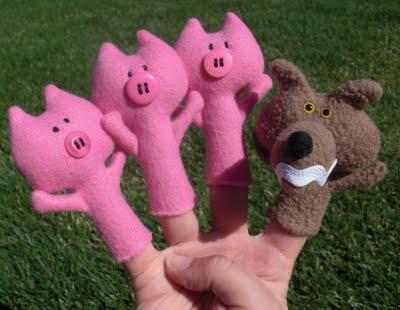 Как сделать пальчиковые игрушки. Детское счастье своими руками.