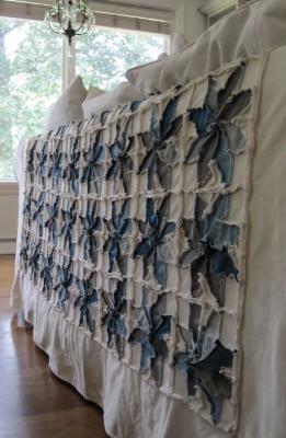 """Как сшить великолепное покрывало - одеяло """"Индиго"""" в технике """"пэчворк""""."""