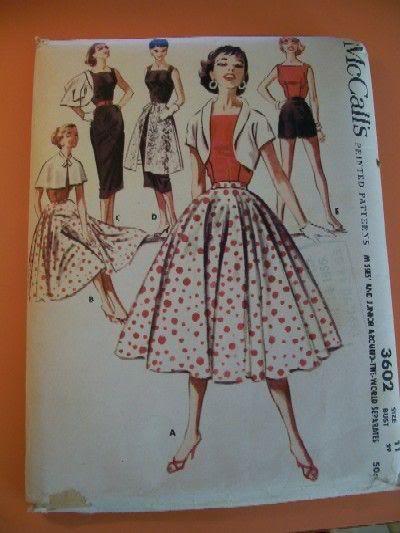 платье в стиле 60-х выкройка.