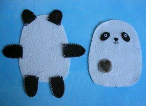 Панда игрушка своими руками фото