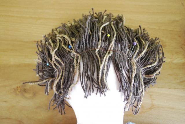 Как сделать волосы кукле примитиву