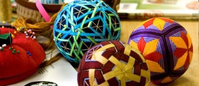 Узоры для разметки и вышивки шаров темари.