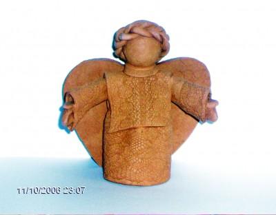 Глиняные ангелы - колокольчики Ирины Омельянчук.