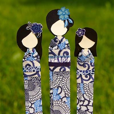 Подулки к первому сентября. Оригинальные закладки - японские девочки.