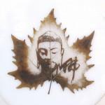 Тонкое искусство. Картины на кленовых листьях.