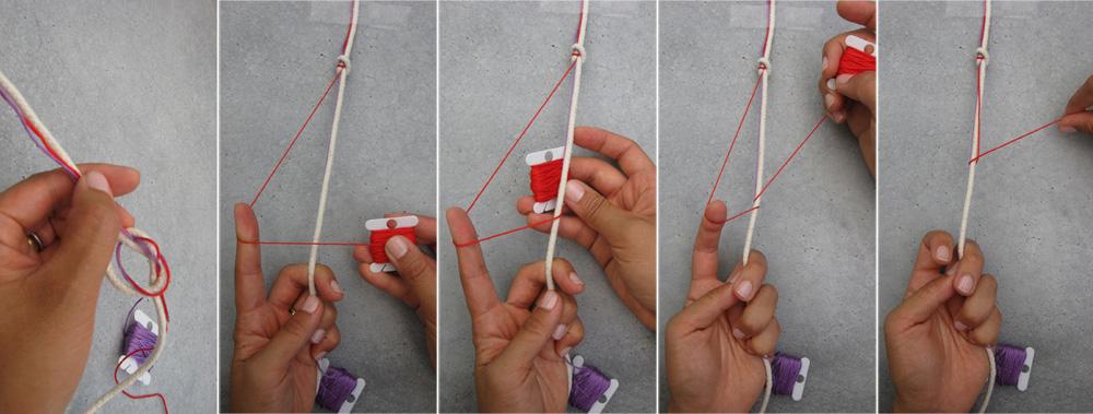 Как сделать закладку из ниток мулине видео