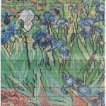 """Вышиваем репродукции. Схемы вышивки картины Ван Гога """"Ирисы""""."""