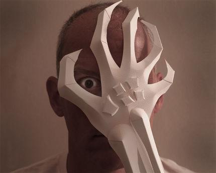 Фото как сделать маску из бумаги своими